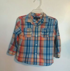 Boys Plaid Long Sleeve Shirt